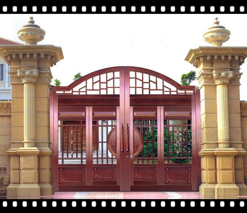 围墙门头图片_围墙大门门柱效果图